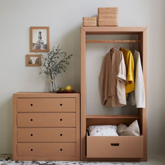 Get Rid of Your Unorganized Wardrobe Using Cardboard Boxes