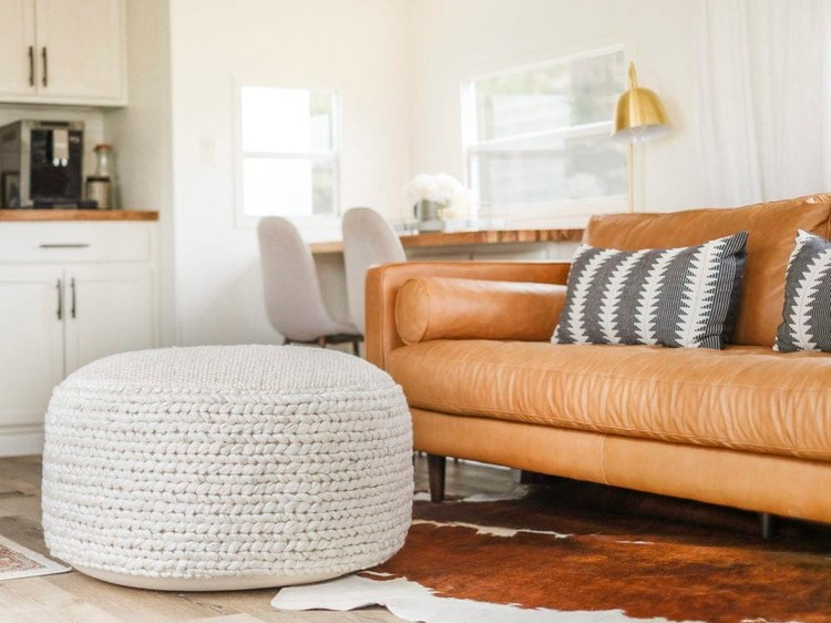 How to use morocco leather poufs in 5 different ways?