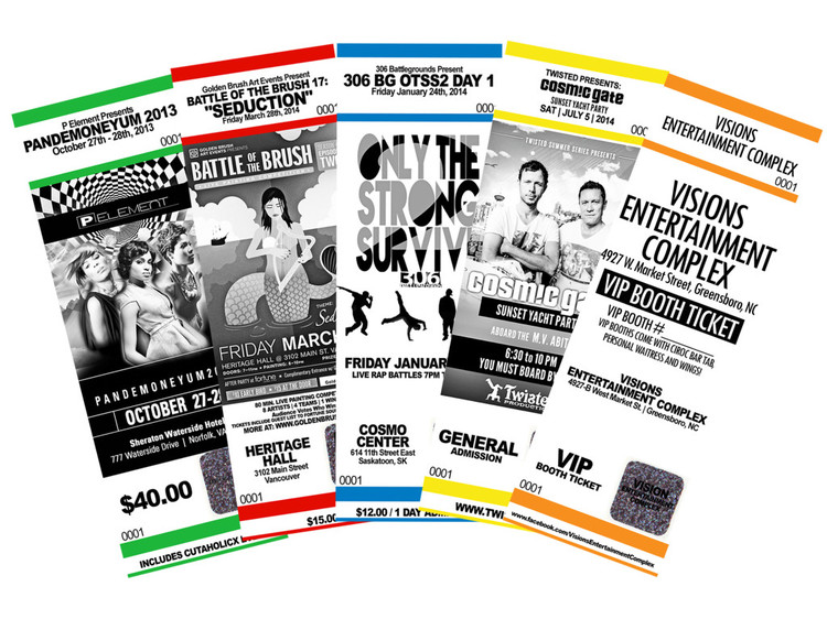 All About Custom Ticket Printing