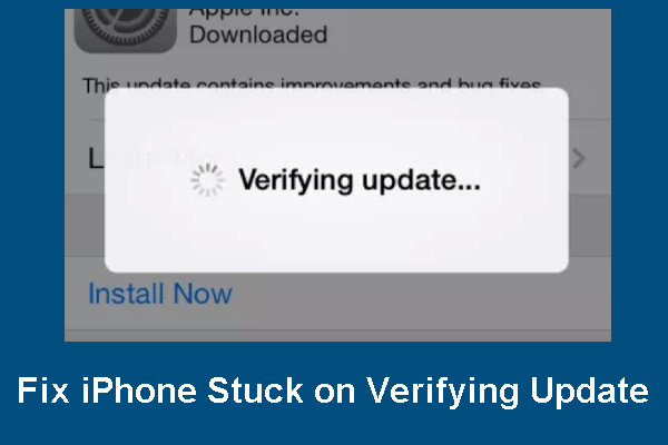 Try These Methods When Your iPhone Stuck on Verifying Update