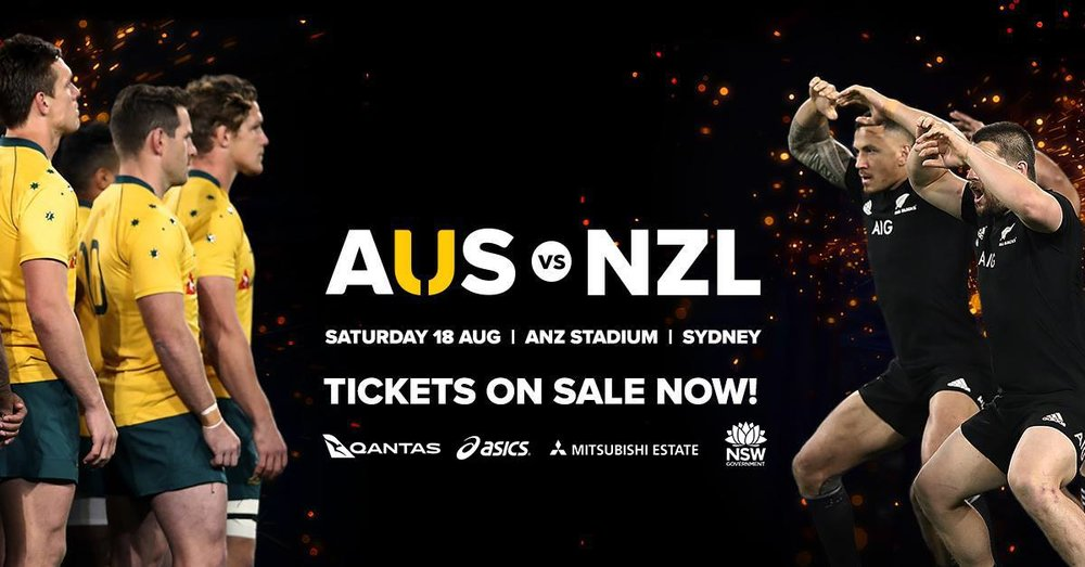 The Qantas Wallabies will take on New Zealand All Blacks for the Bledisloe Cup in a Rugby